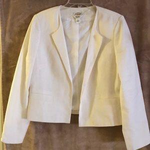 Talbots white linen blazer